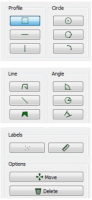 Different profile tools available